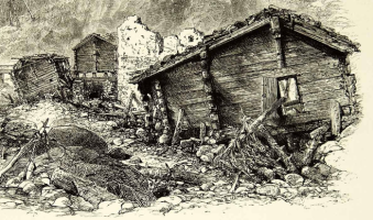 The Lazaret in ruins