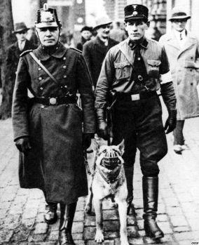 Nazi with dog